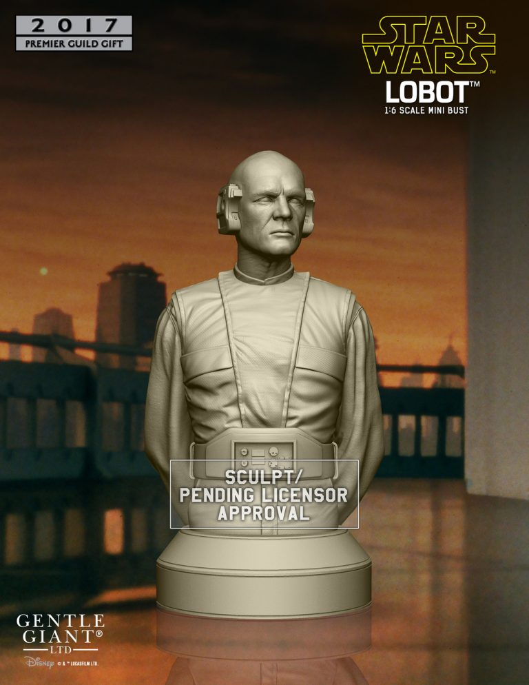 Gentle Giant - Premier Guild 2017 Gift Lobot Mini Bust Lobot_10