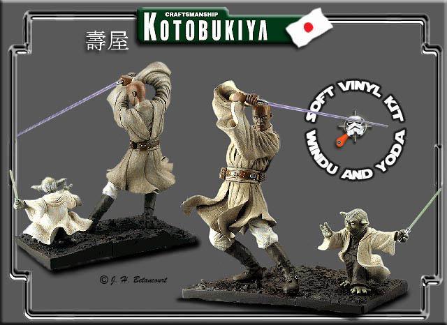 Kotobukiya - Mace Windu / Yoda ARTFX Statue Mace-y10