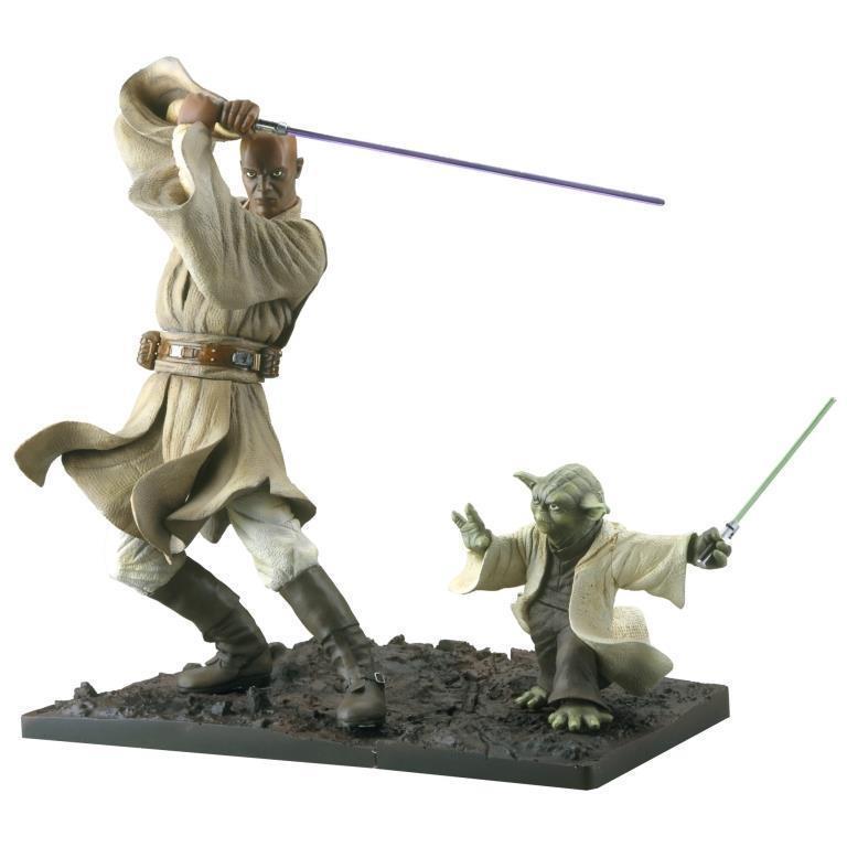 Kotobukiya - Mace Windu / Yoda ARTFX Statue Mace-y11