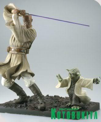 Kotobukiya - Mace Windu / Yoda ARTFX Statue Mace_y10