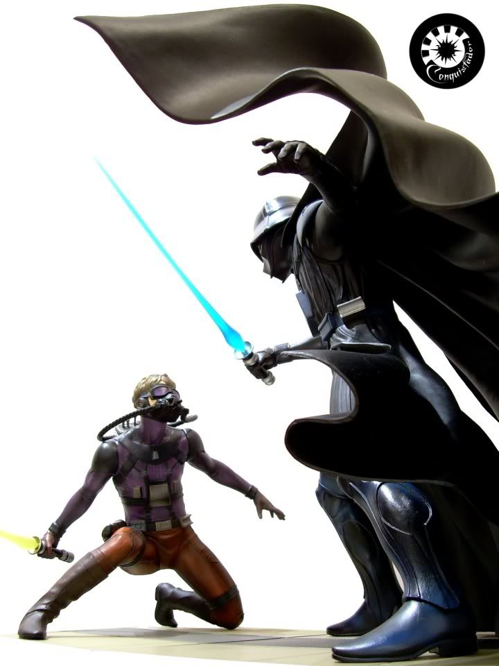 Kotobukiya - Ralph Mc Quarrie duel Vader / Luke ARTFX Statue Mcarri10