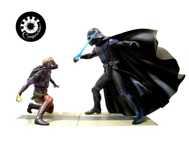 Kotobukiya - Ralph Mc Quarrie duel Vader / Luke ARTFX Statue Mcarri11