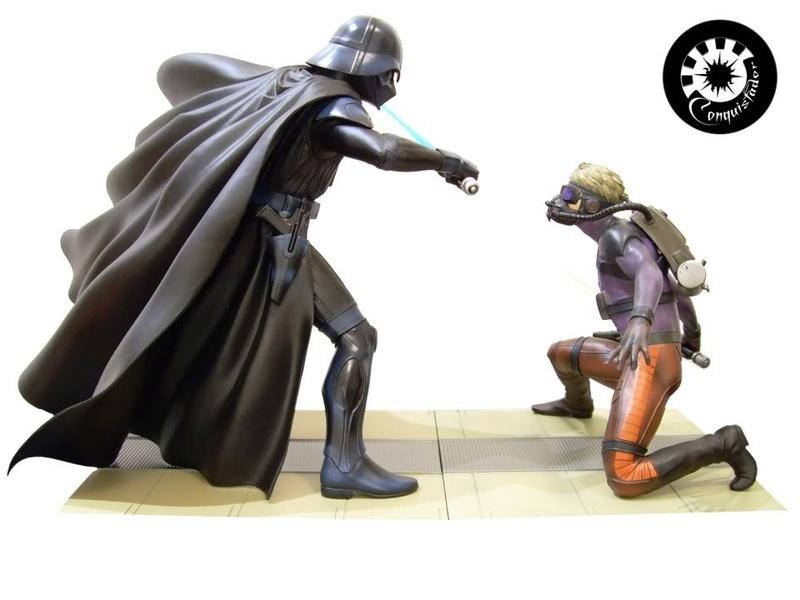 Kotobukiya - Ralph Mc Quarrie duel Vader / Luke ARTFX Statue Mcarri12