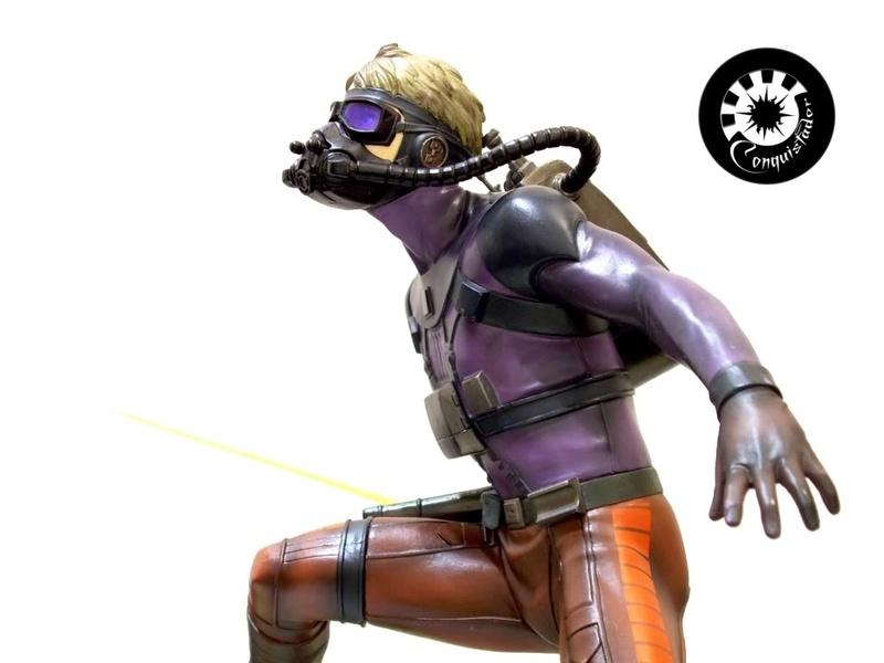 Kotobukiya - Ralph Mc Quarrie duel Vader / Luke ARTFX Statue Mcarri13