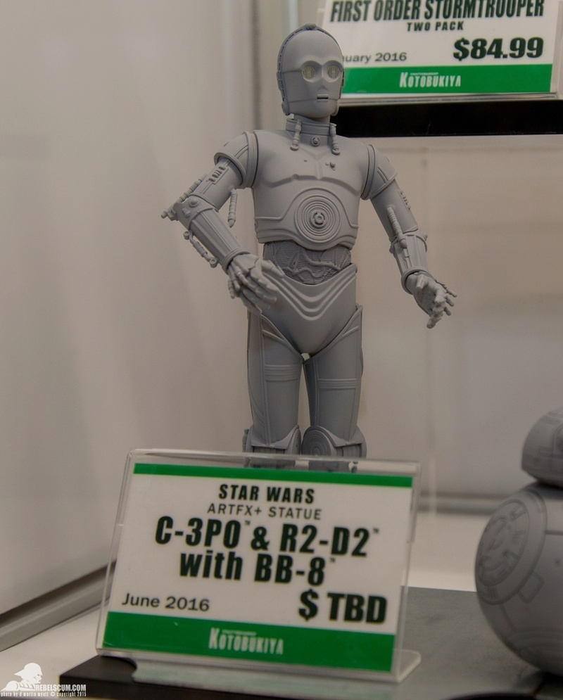 Kotobukiya Star Wars - C3PO,R2D2,BB8 ARTFX+ Statue Nycc-210