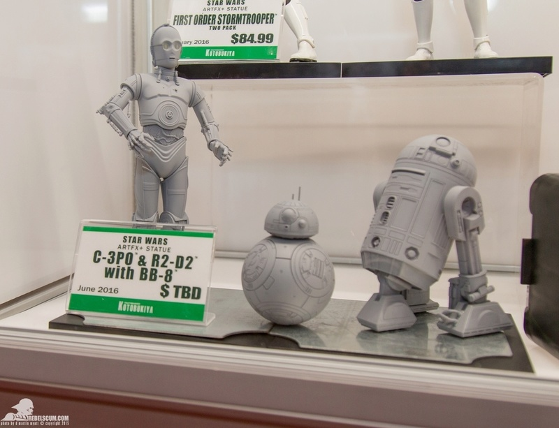 Kotobukiya Star Wars - C3PO,R2D2,BB8 ARTFX+ Statue Nycc-212