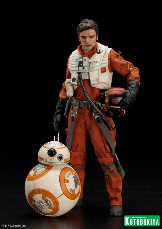 Kotobukiya -Star Wars TFA Poe Dameron & BB-8 Two Pack ARTFX+ Poe-bb10
