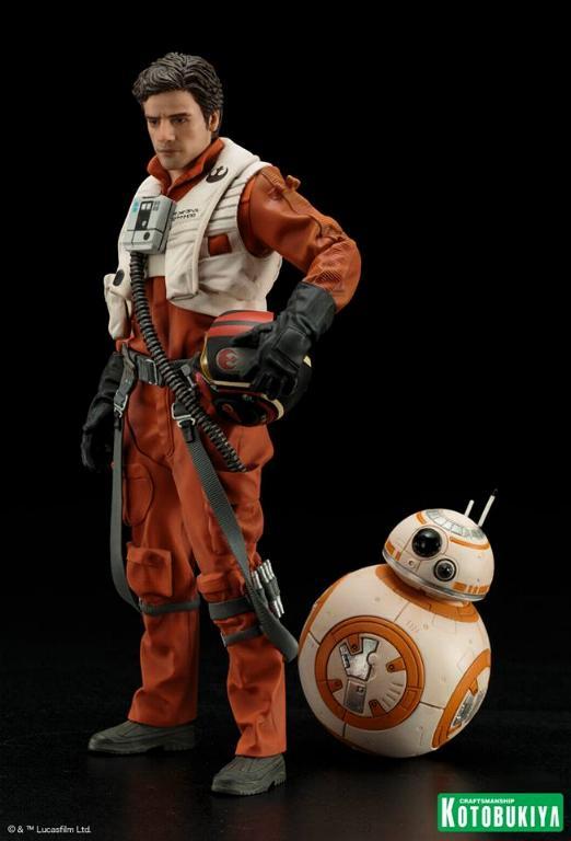 Kotobukiya -Star Wars TFA Poe Dameron & BB-8 Two Pack ARTFX+ Poe-bb15