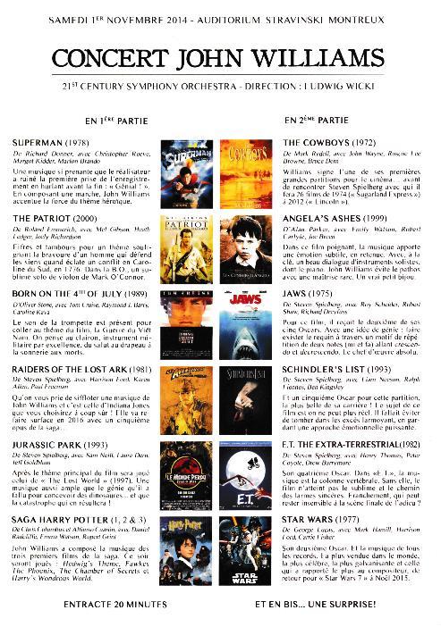 Concert John Williams - Montreux (CH) Prog_010