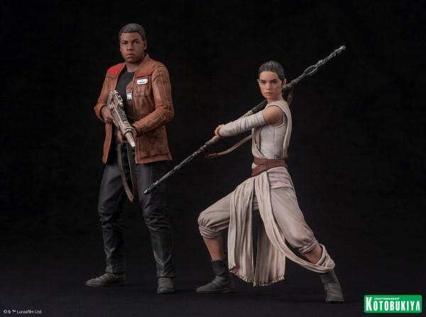 Kotobukiya - SW The Force Awakens Rey & Finn ARTFX+ 2 Pack Reyfin10