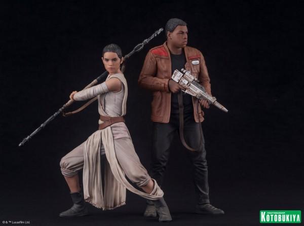 Kotobukiya - SW The Force Awakens Rey & Finn ARTFX+ 2 Pack Reyfin11