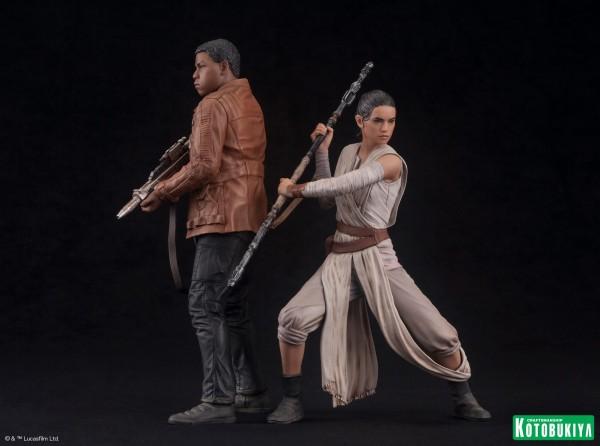 Kotobukiya - SW The Force Awakens Rey & Finn ARTFX+ 2 Pack Reyfin12