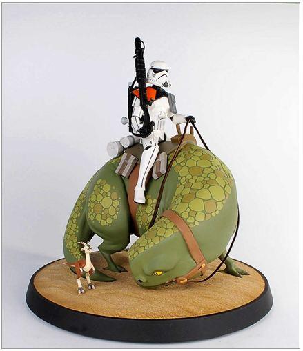 Gentle Giant - Animated Maquette - Sandtrooper On Dewback Sand0510
