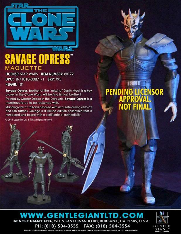 Gentle Giant - CW  Savage Oppress Animated Maquette Savage10