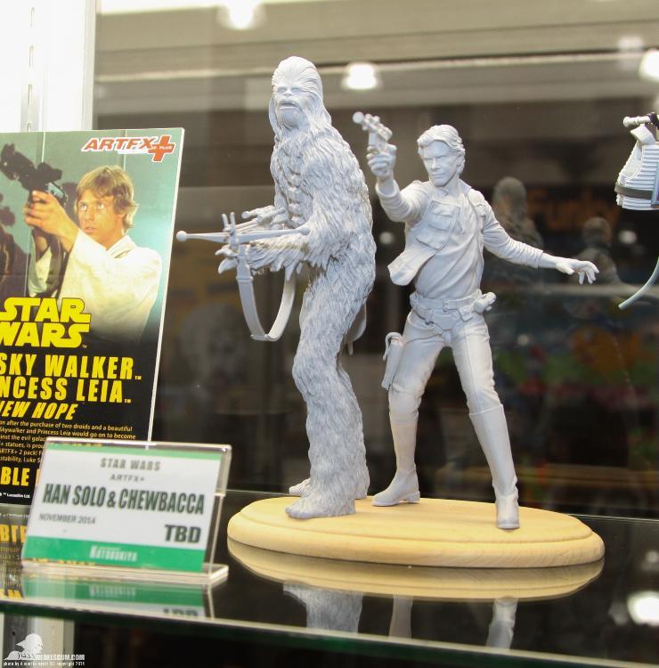 Kotobukiya - Han Solo & Chewbacca - ARTFX+ Statues 2 packs Soloch10