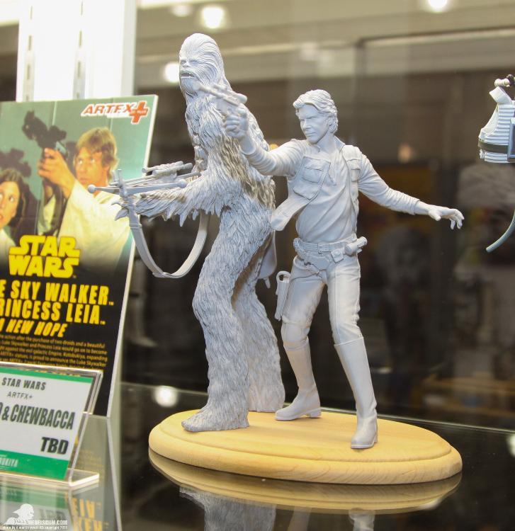 Kotobukiya - Han Solo & Chewbacca - ARTFX+ Statues 2 packs Soloch11