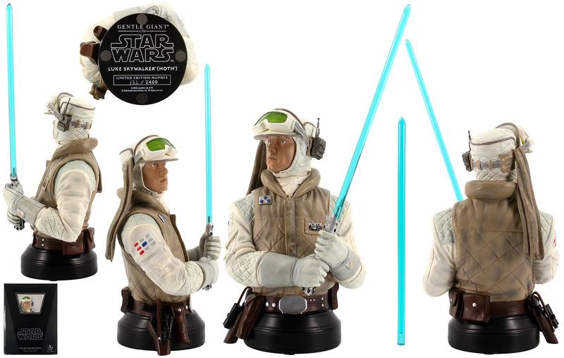 Gentle Giant -Han solo, Luke Skywalker & Leia Hoth mini-bust Star-w88