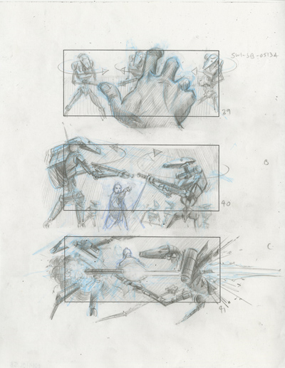 Star Wars Storyboards - The Prequels  Story012