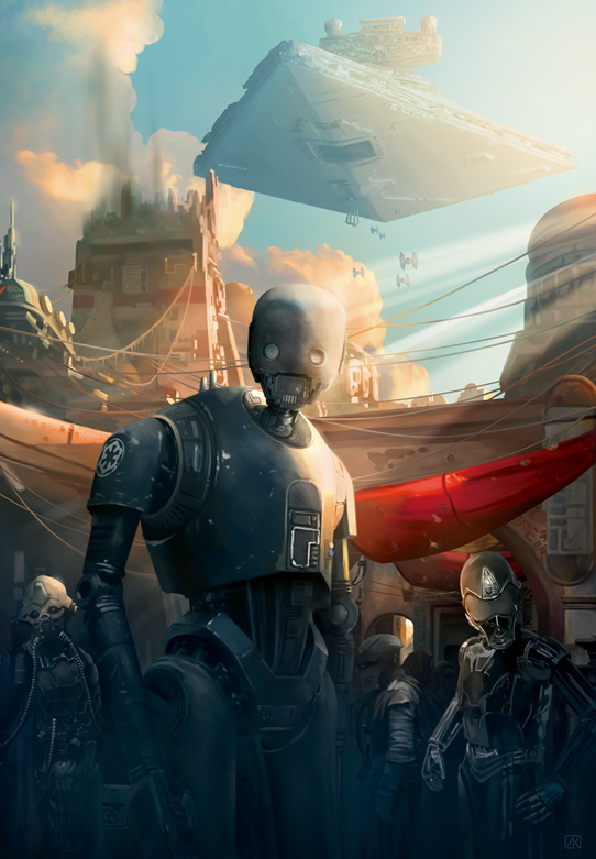 Artwork Star Wars Rogue One - ACME - Streets of Jedha Street10