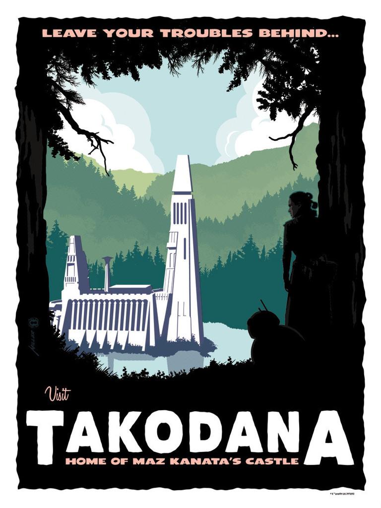 Artwork Star Wars - DarkInk - Visit Takodana Takoda10