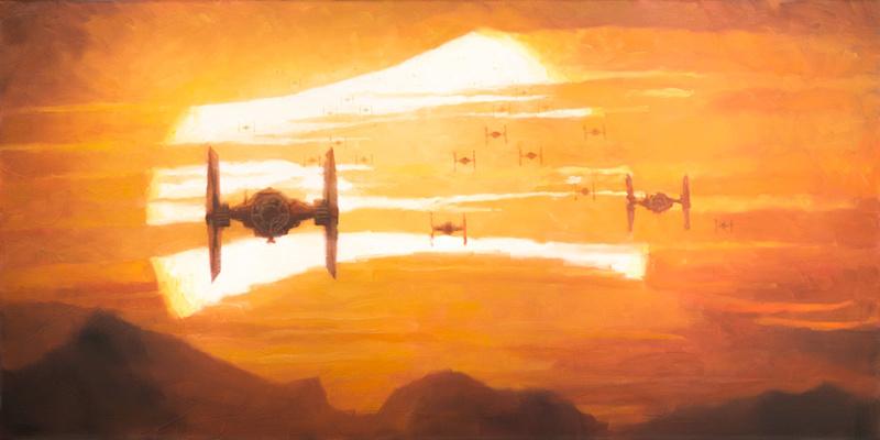 Artwork Star Wars - ACME - TIE Fighter Sunset  Tie_fi10