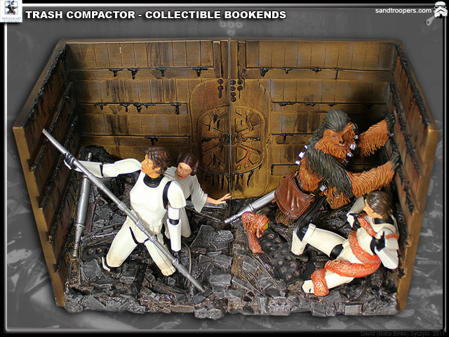 Gentle Giant - Bookends - Diorama Trash Compactor Trashb10