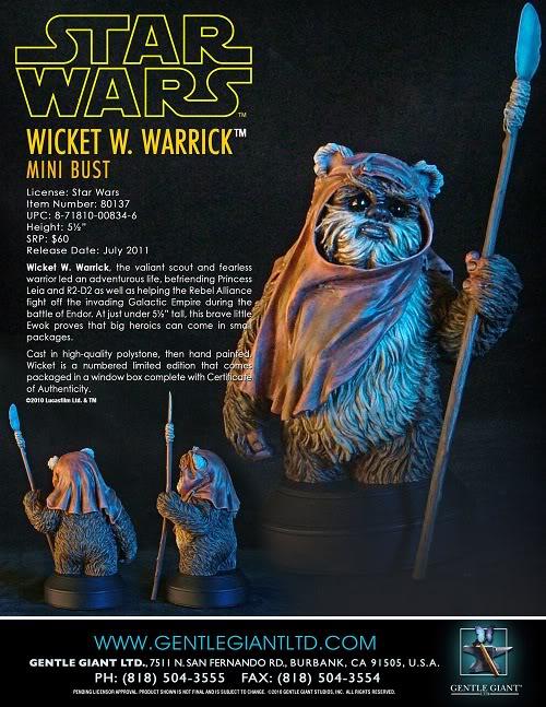 Gentle Giant - Wicket Mini Bust Wicket16