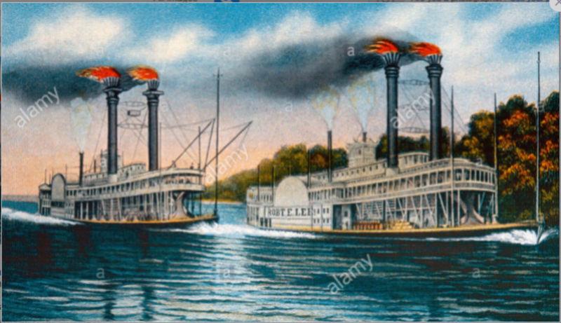 Construction d'un bateau à roue à aube : le Mississippi 1870 Natche10