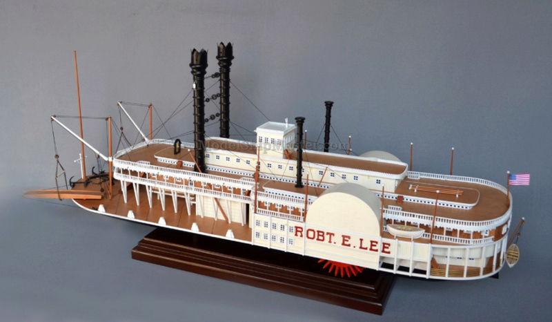 Construction d'un bateau à roue à aube : le Mississippi 1870 Robert10