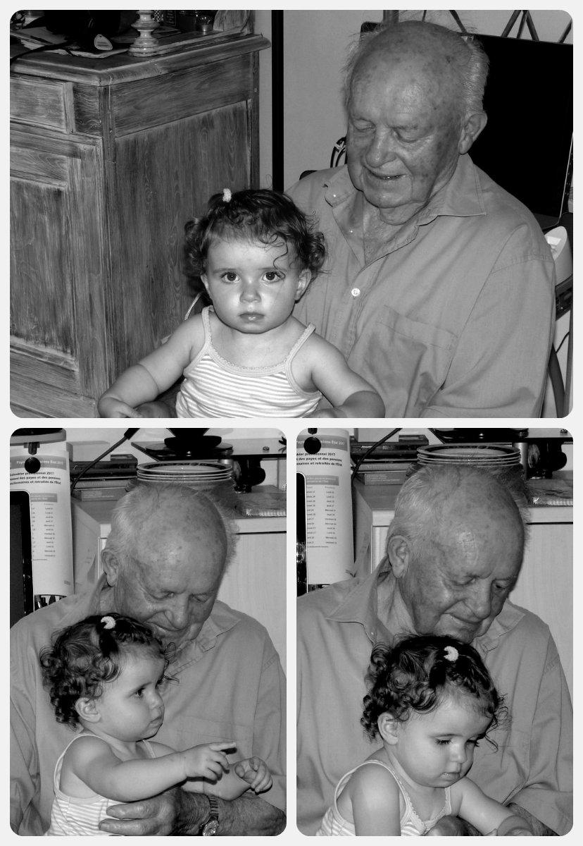 L'arrière Grand Père et son arrière Petite Fille ! Collag13