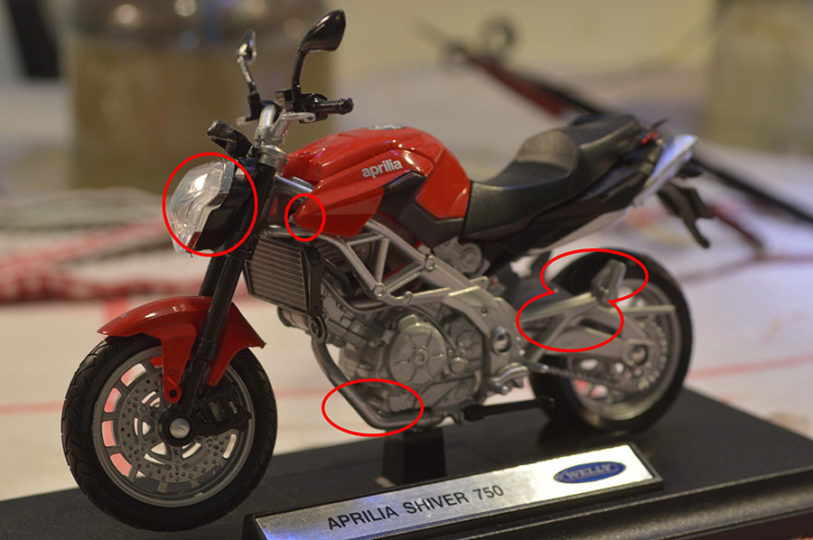 [Moto] Conversion et kit de maquette Shiver33
