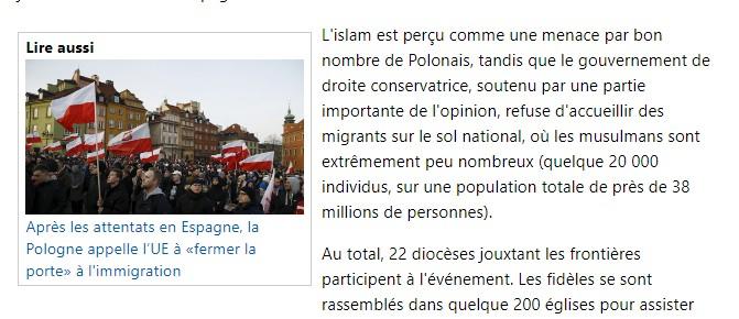 Chapelet = 1 million de personnes en Pologne.  A13