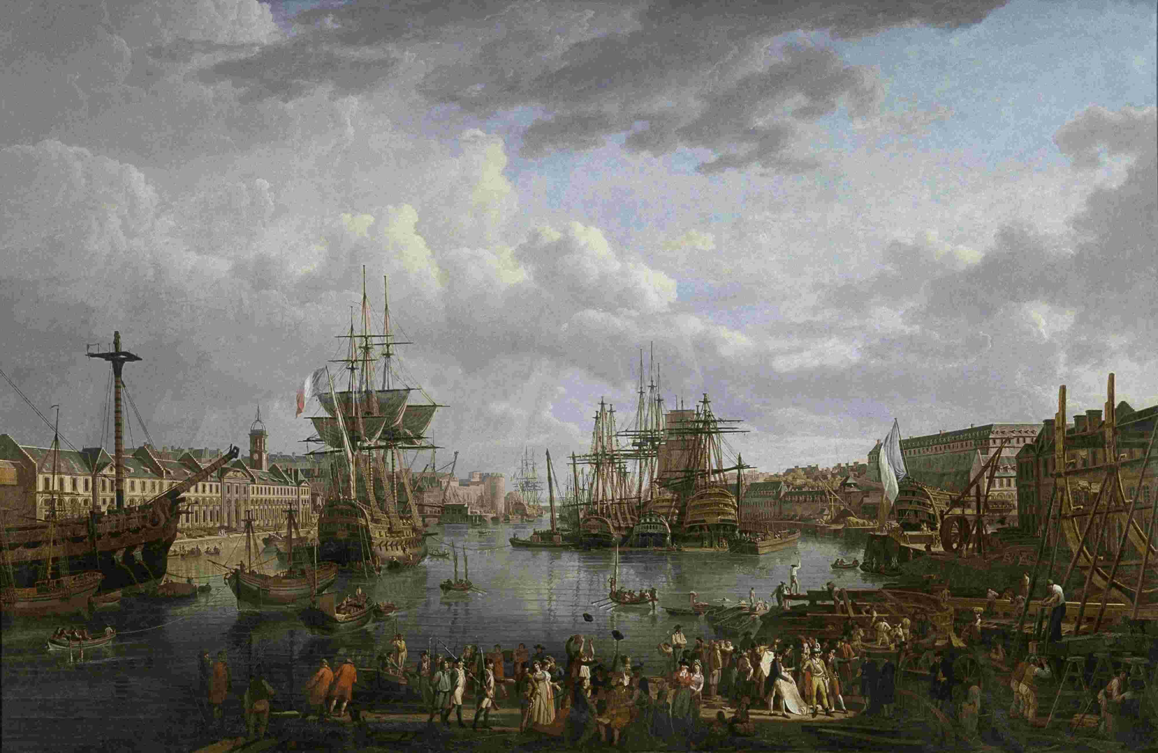 Le port de Brest - Jean-François Hué 1phb4010