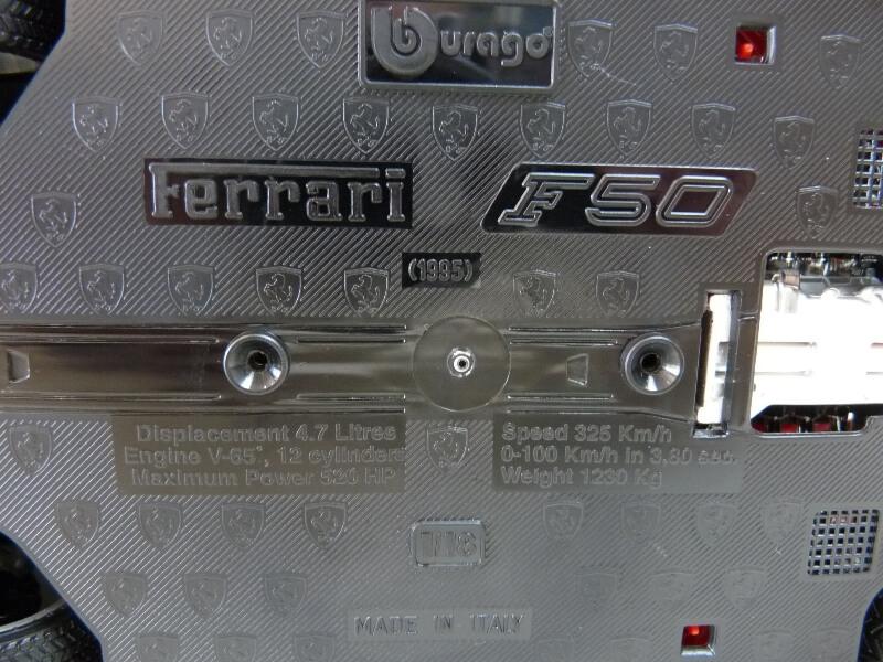 Ferrari F50 Hardtop - 1995 - BBurago 1/18 ème F50h_116
