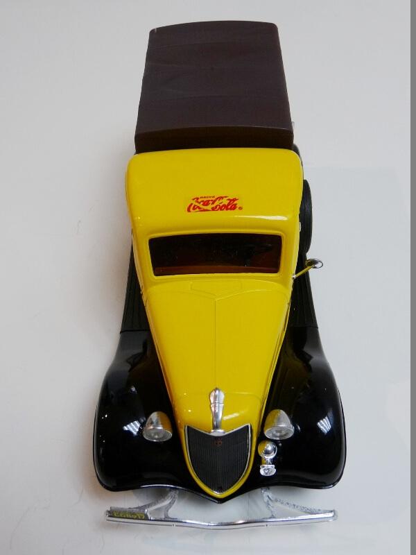 """Ford V8 Pick-up jaune bâché """"Coca-cola"""" - 1936 - Solido 1/19 ème  Fordv841"""