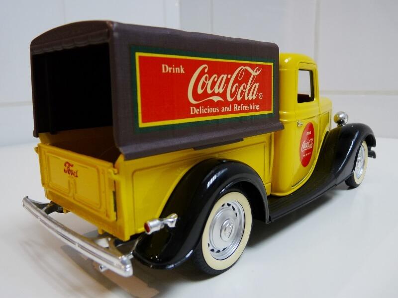 """Ford V8 Pick-up jaune bâché """"Coca-cola"""" - 1936 - Solido 1/19 ème  Fordv844"""