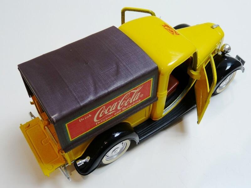 """Ford V8 Pick-up jaune bâché """"Coca-cola"""" - 1936 - Solido 1/19 ème  Fordv853"""
