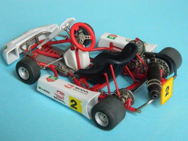 Kart  A. SENNA Bercy 93 - Fujimi 1/20ème - Par fombec6 - Fini . Ks04210