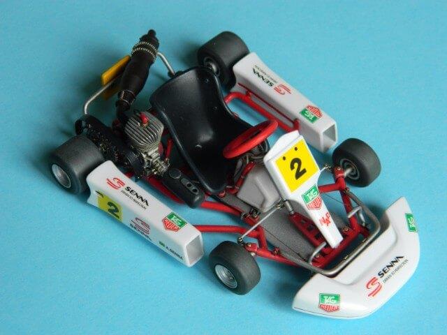 Kart  A. SENNA Bercy 93 - Fujimi 1/20ème - Par fombec6 - Fini . Ks04510