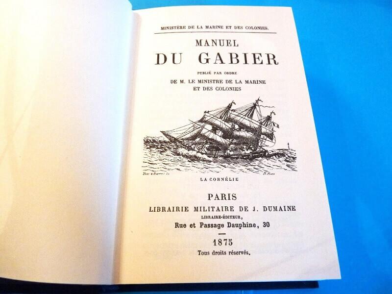 Le Manuel du Gabier - Ministère de la Marine - 1875 L002b10