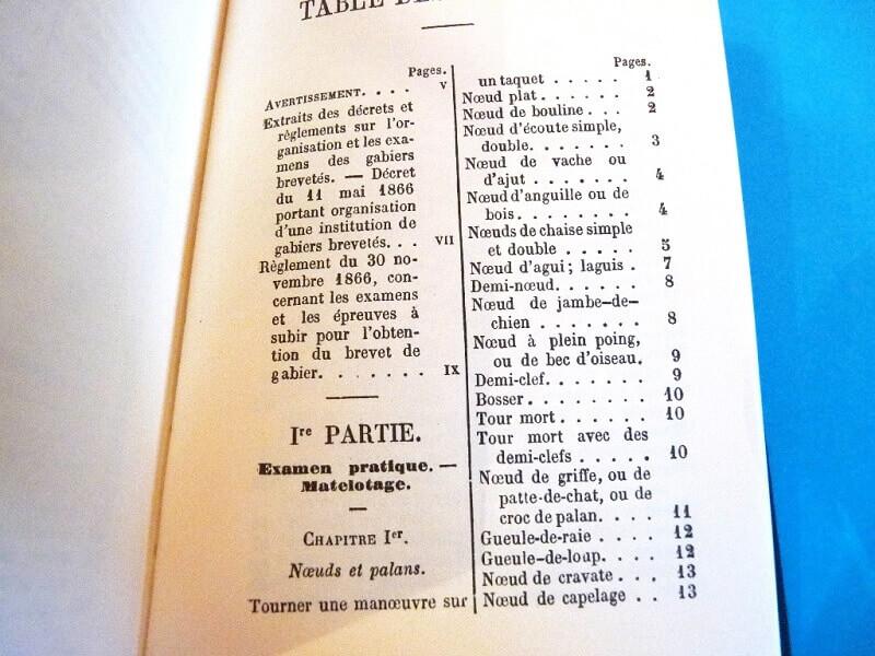 Le Manuel du Gabier - Ministère de la Marine - 1875 L002c10