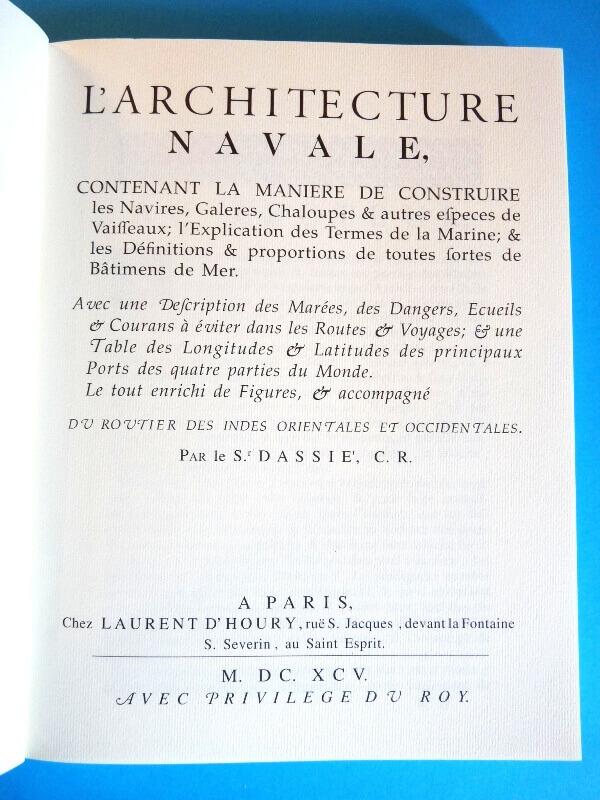L'Architecture Navale - Dassie' - 1695 L005c10