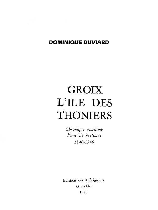 Groix - L'île des Thoniers - Dominique Duviard L011b10