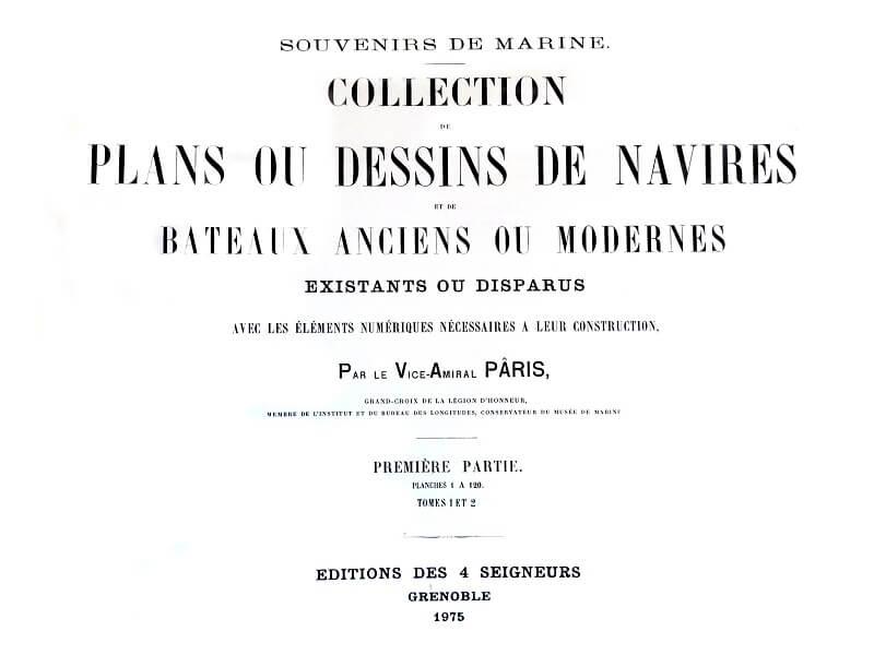 Souvenirs de Marine conservés - 1ère partie - Tome I & II - Vice Amiral Pâris L017b10