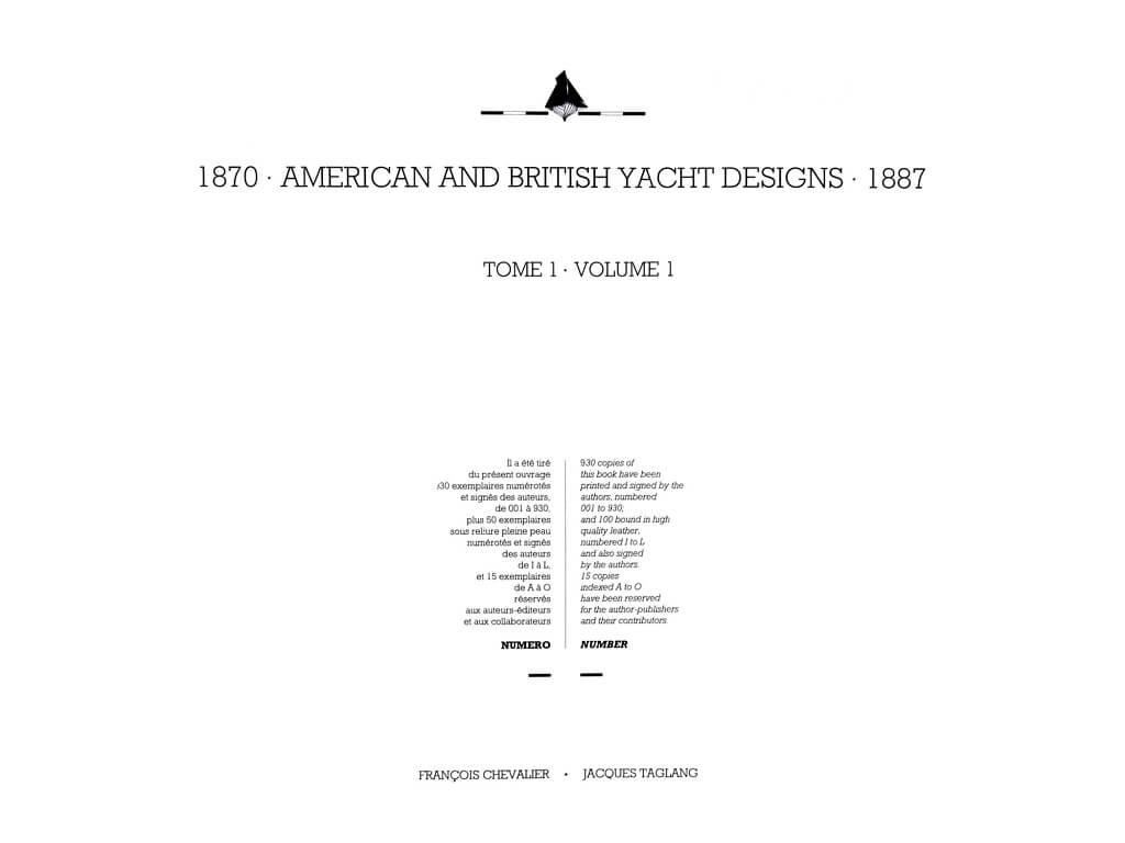 1870 - American & British yacht designs - 1887 - T1 - V1 - F. Chevalier & J. Taglang  L020c10