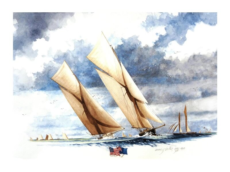1870 - American & British yacht designs - 1887 - T1 - V1 - F. Chevalier & J. Taglang  L020e10