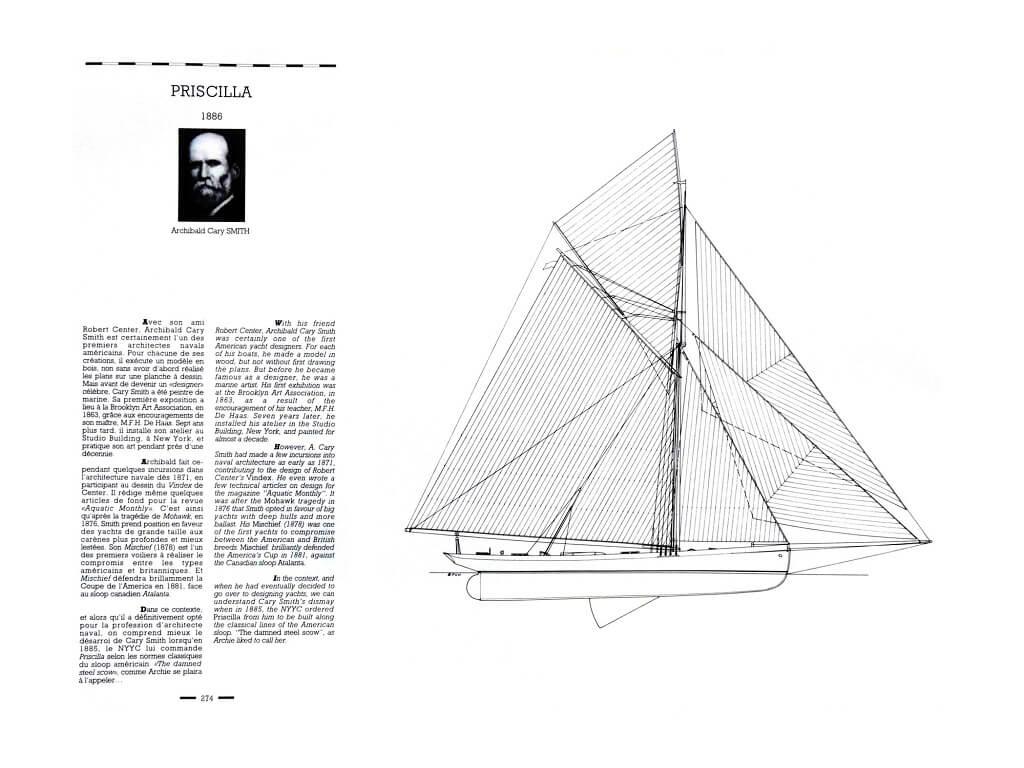 1870 - American & British yacht designs - 1887 - T1 - V1 - F. Chevalier & J. Taglang  L020p10