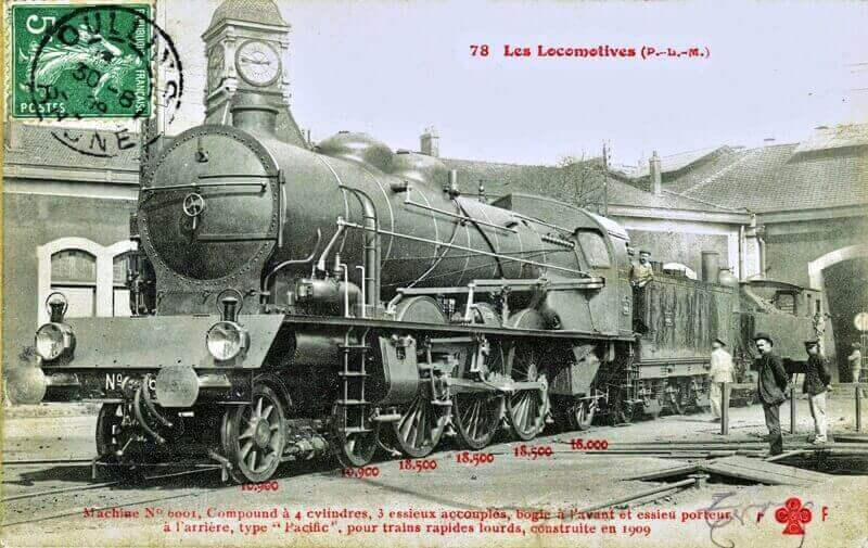 Locomotive 231 PLM 6001 Type Pacific prototype 1909 Lop_110