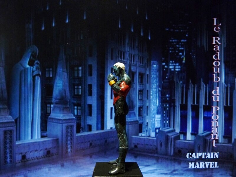 Captain Marvel - Figurine en plomb Mlcmav14