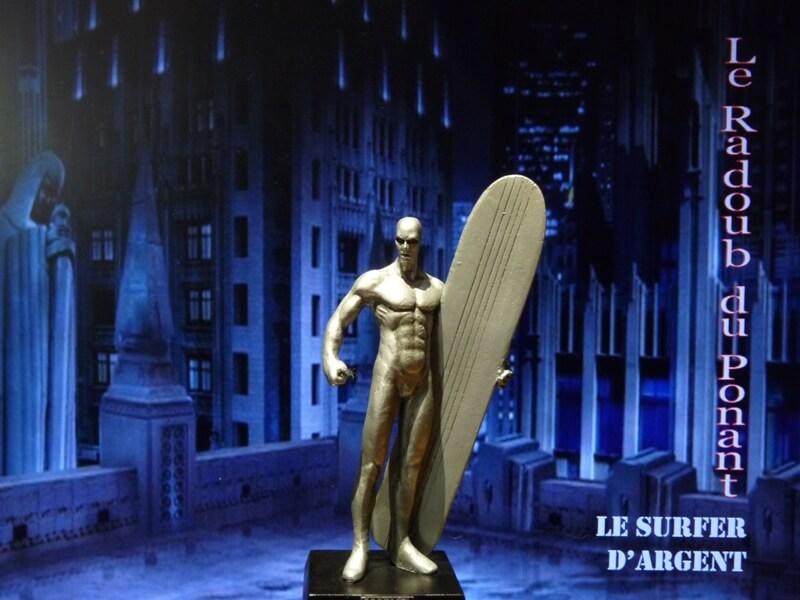 Le Surfer d'Argent - Figurine en plomb Mlsa110